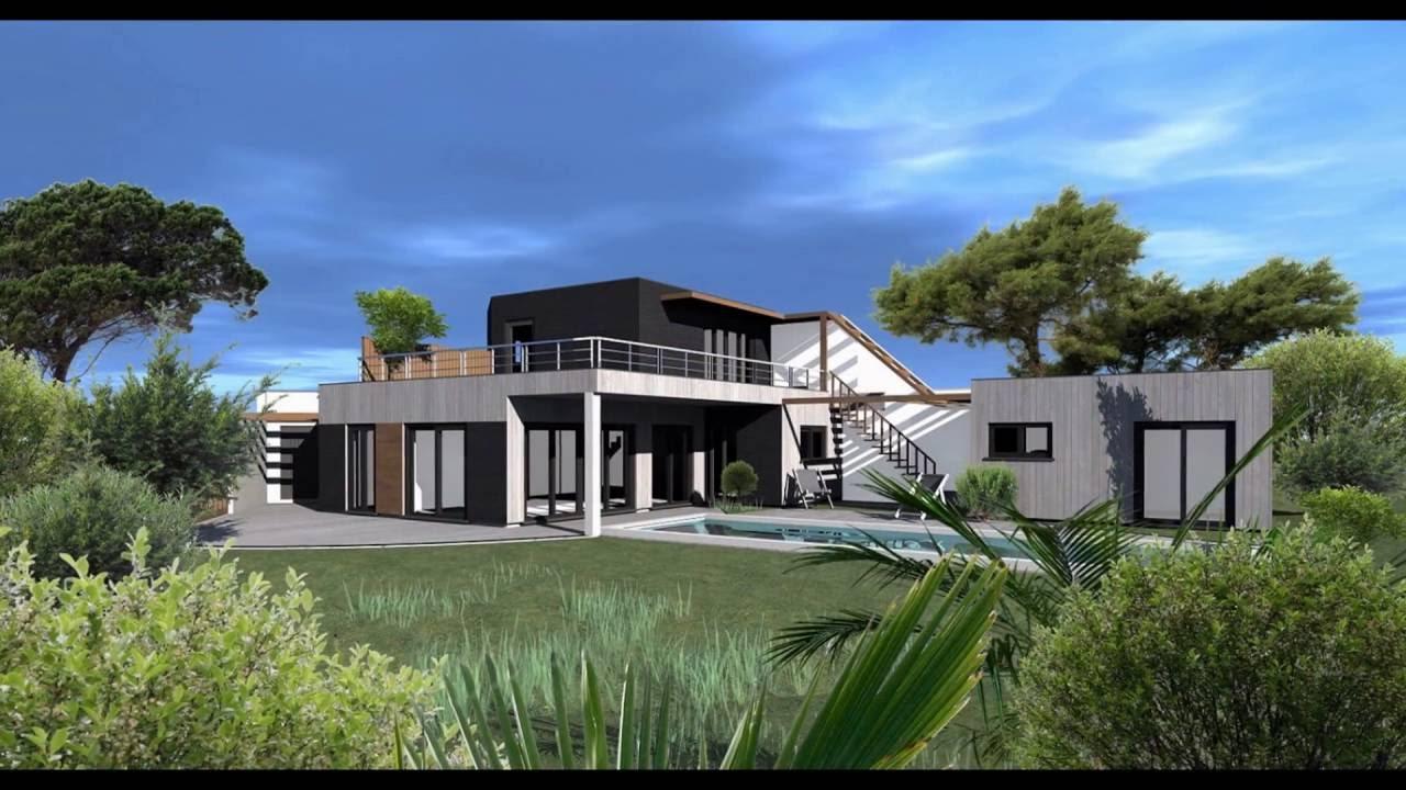 Plan et modèle de maison contemporaine   traditionnelle   bois ...