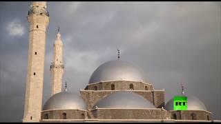 شاهد.. مراسم إعادة افتتاح مسجد خالد بن الوليد في حمص
