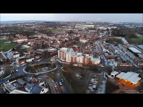 Aerial Drone Footage Newcastle-Under-Lyme 27th February 2018