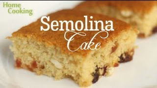 semolina cake l how to make semolina sooji cake l easy cake dessert recipe