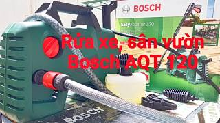 Đánh giá sử dụng máy xịt rửa xe Bosch AQT 120 Part1