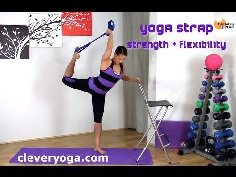 Clever Yoga Strap Strength and Flexibility BARLATES BODY BLITZ with Linda Wooldridge