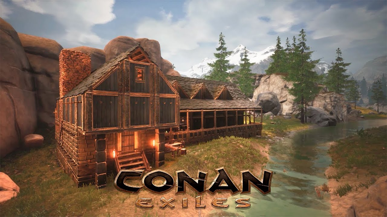 Conan Exiles Cabin By The River Gonna Build A Village