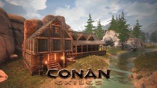 Conan Exiles - Cabin by the River (gonna build a Village!)