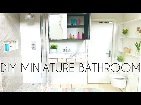 DIY Dollhouse Bathroom & Miniature Barbie Crafts