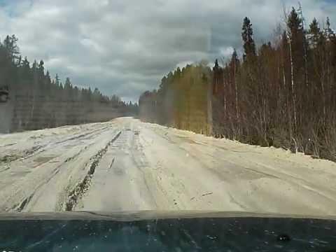 Дорога Каргополь-Пудож весной