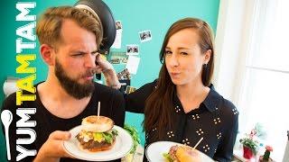 Burger mit der Küchenchaotin // Veggie vs. Fleisch // #yumtamtam