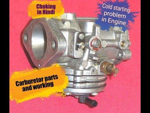 6) Carburetor working  and Choking (In Hindi)
