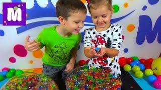 Орбиз разноцветные шарики сюрпризы с игрушками Orbeez