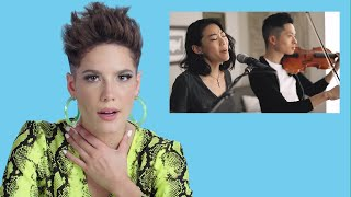 "On this episode of ""You Sang My Song,"" Halsey watches fan covers on..."