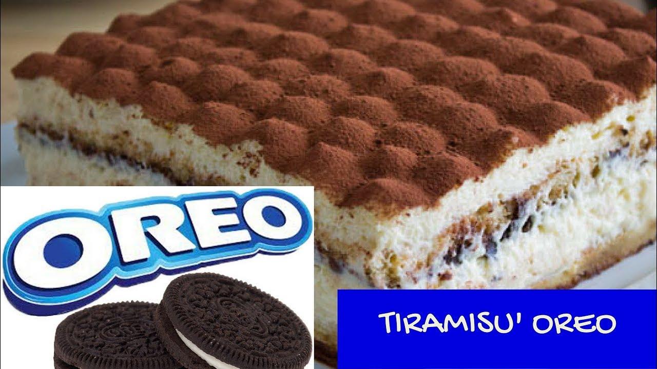 Ricetta Tiramisu Con Oreo.Tiramisu Con Biscotti Oreo Youtube