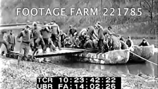 1918, Us Army: Pontoon Bridge Construction 221785-02