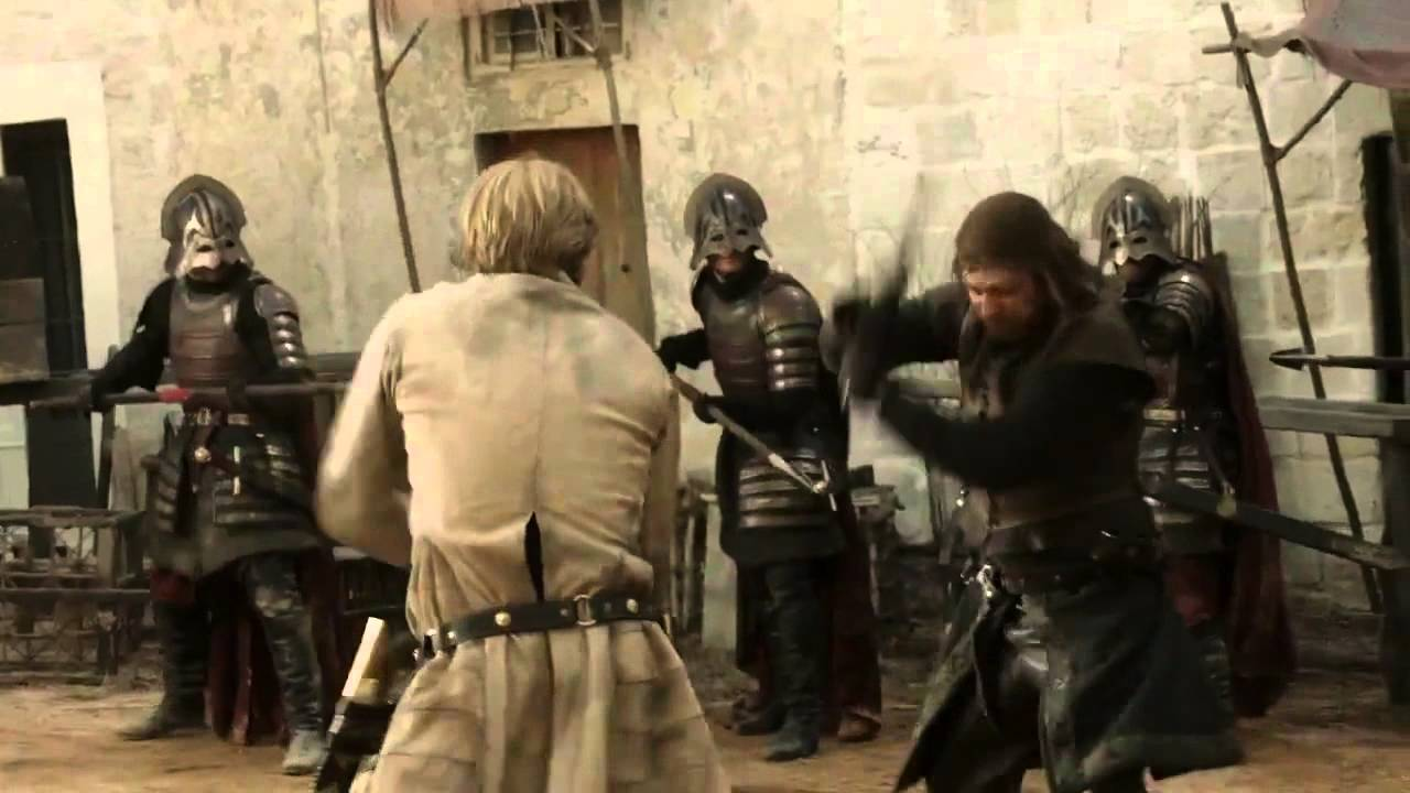 Tyrion Lannister Quotes Hd Wallpaper Ned Stark Vs Jaime Lannister Game Of Thrones 1x05 Hd