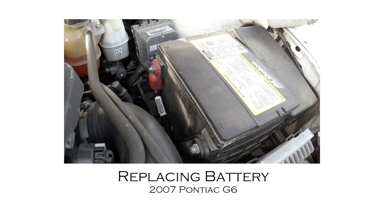 Pontiac G6 2007 Battery Replacement And Resetting Windows