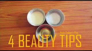 DIY 4 BEAUTY TIPS FOR  CLEAR  GLOWING SKIN/WINTER SKIN CARE  BEAUTY TIPS/NIDHI THAKUR/SEASON SPECIAL