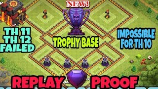 WOW TH10 (TOWN HALL 10) Trophy Base 2018 Anti Everything | TH10 Farming Base | TH10 BASE | COC