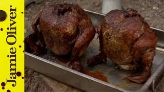 Sweet Smokey Beer Can Chicken With Dj Bbq Featuring Nate Kern Youtube