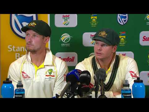 Steve Smith and Cameron Bancroft admits cheating by ball tampering - Press conference - SA vs Aus