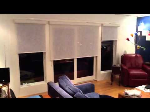 Remote control wireless window shades - YouTube