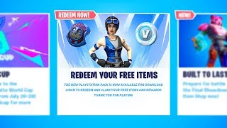New FREE PLAYSTATION ITEMS in Fortnite (3 FREE ITEMS)