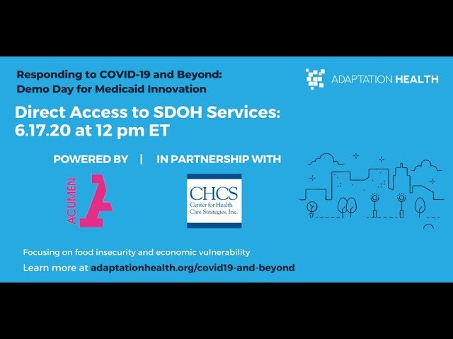 """Opening and Expert Panel from """"Direct Access to SDOH Services"""""""