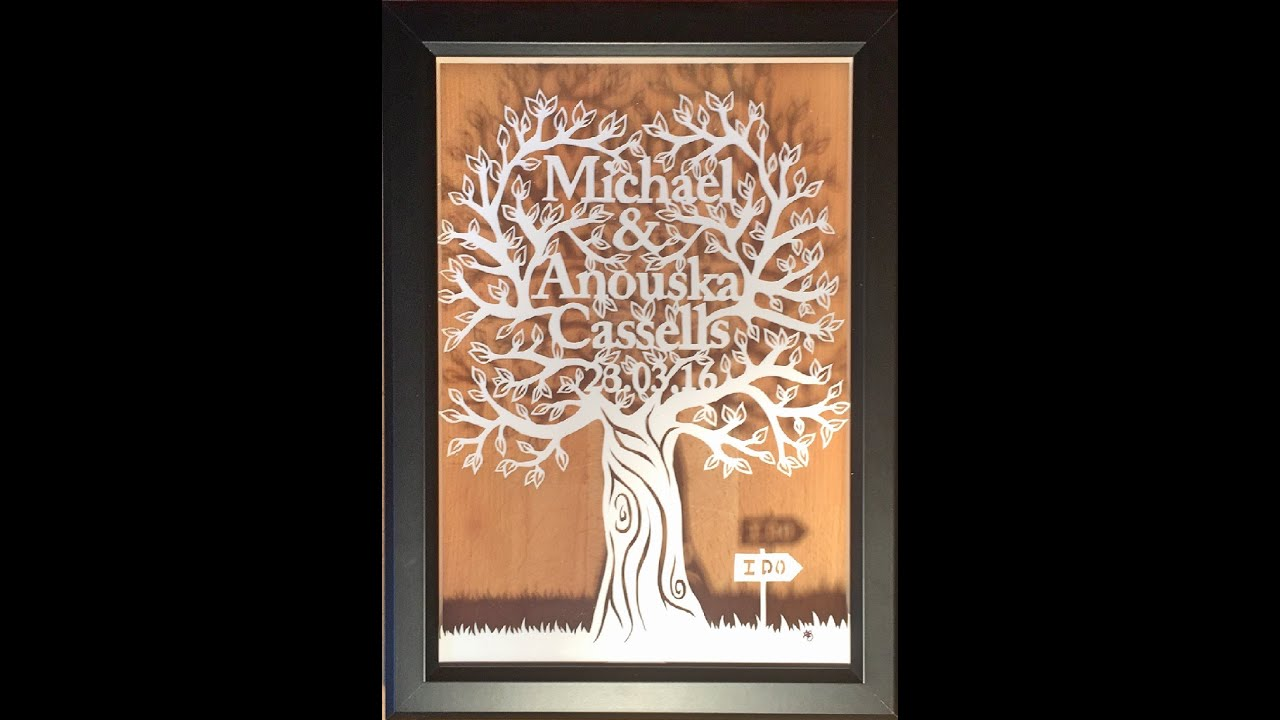 wedding tree gift speed paper cut out kings of leon sex on fire
