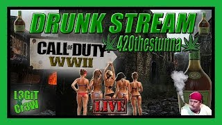 Call Of Duty WWII! Grown Folks Drinking And Gaming New United Front DLC Maps! ( WWII Live Stream )