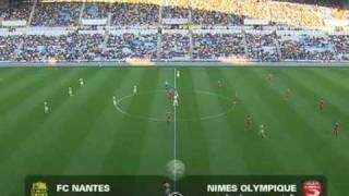 But de Nantes a la 8me secondes contre Nime