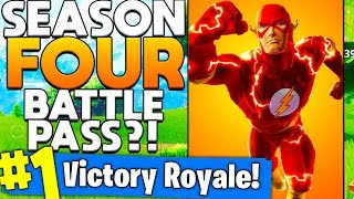 THE FLASH SUPERHERO SKIN LEAK (BATTLE PASS SEASON 4 HYPE) in Fortnite Battle Royale