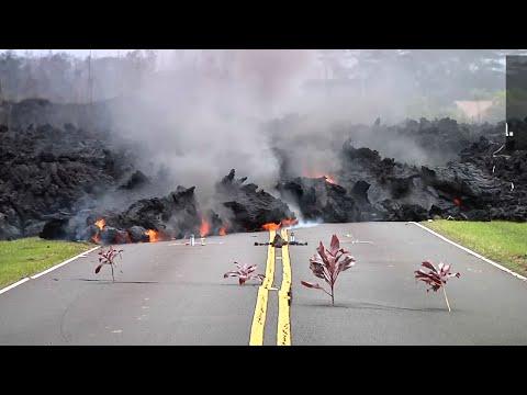 Hawaii Man Stays Behind Despite Lava Danger