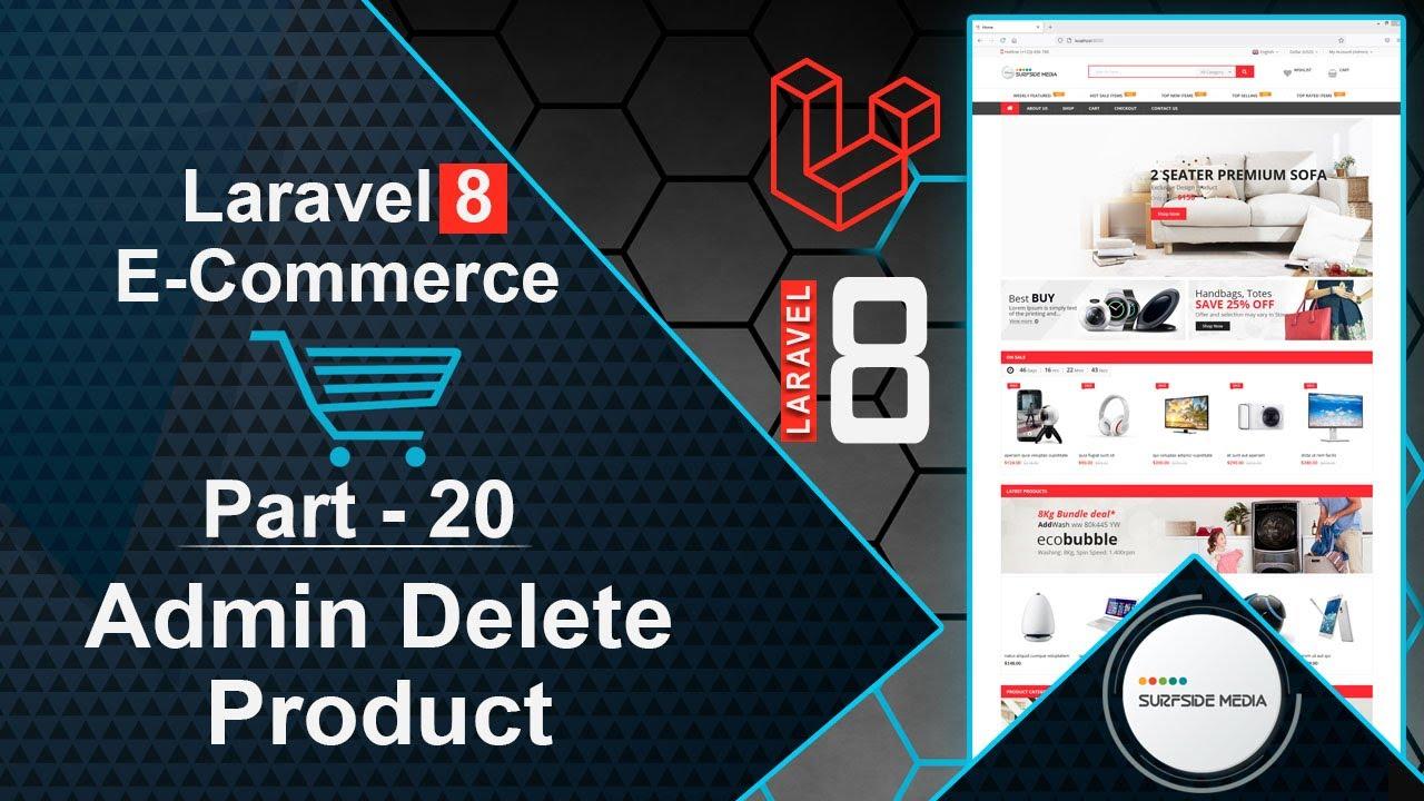 Laravel 8 E-Commerce - Admin Delete Product