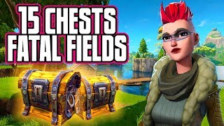 ALL Fortnite Chest Locations in FATAL FIELDS - Fortnite Battle Royale Tips (15 Chests Total)
