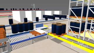 Drum Handling System and  Automatic Truck Loading - Engineering Simulation