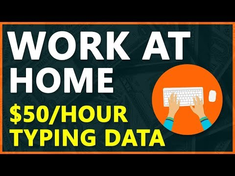 Work At Home - Earn $50 Per Hour Data Entry Job