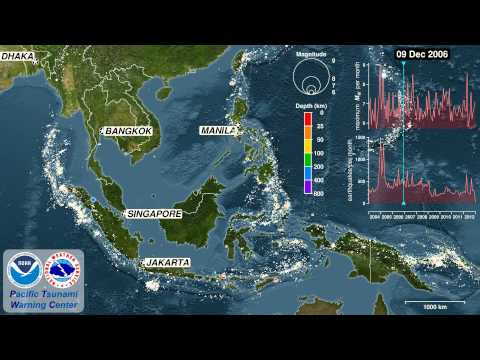 Nine Years of Earthquakes in Southeast Asia