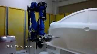 Robotik cnc prototip araba işleme