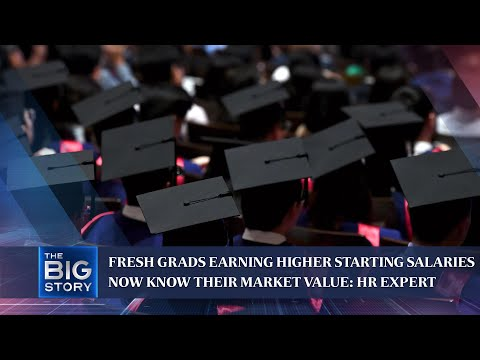 Fresh grads earning higher starting salaries now know their