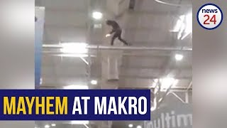WATCH: Makro to introduce additional security measures after man climbs into rafters