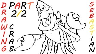 How to Draw SEBASTIAN from The Little Mermaid Step by Step Easy for Kids   TUTORIAL 2/2
