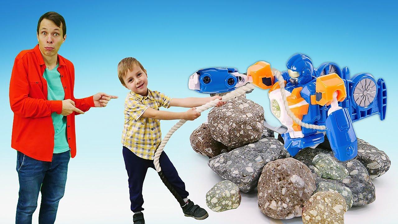 ТОБОТЫ в видео для детей - Ремонтируем Роботы Трансформеры с Фёдором! - Новые игры для мальчиков