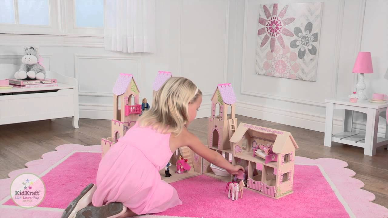 Girls Princess Castle Dollhouse And Figures Youtube