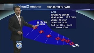 Central Pacific cyclone upgraded to Tropical Storm Ana