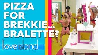 Exclusive: Girls twerk while singing 'pizza for breakfast' | Love Island Australia 2019