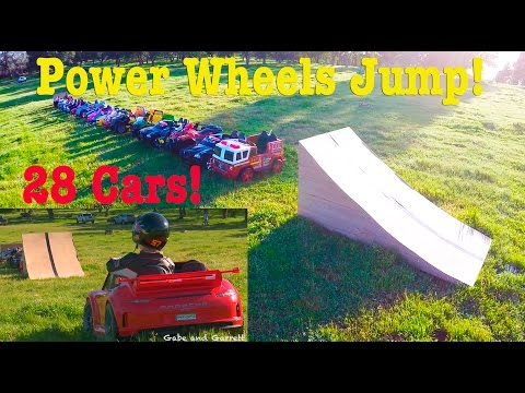 Ultimate Power Wheels Jump - 27 Cars!  Promo!