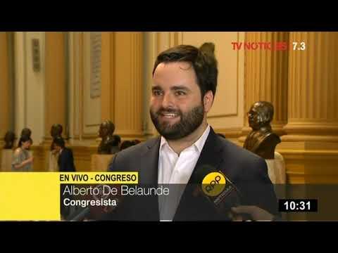 Alberto de Belaunde pide a Daniel Salaverry la eliminación de inmunidad parlamentaria