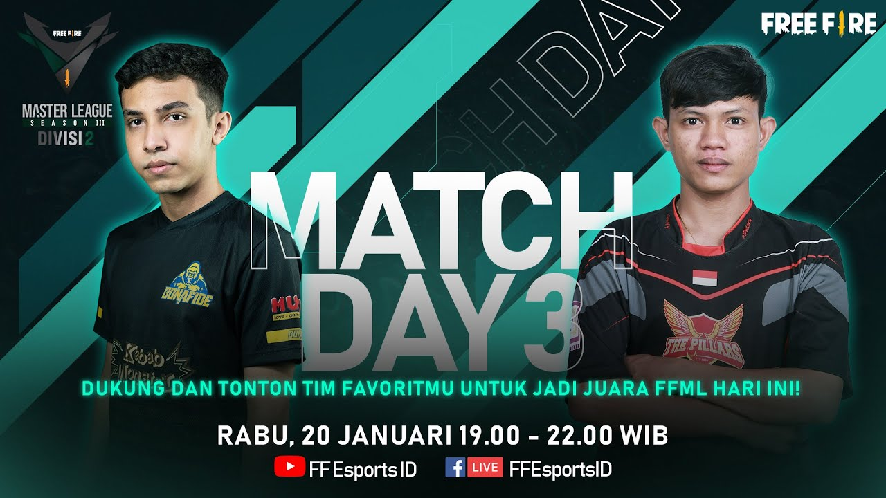 Download [2021] Free Fire Master League Season III Divisi 2 - Match Day 3