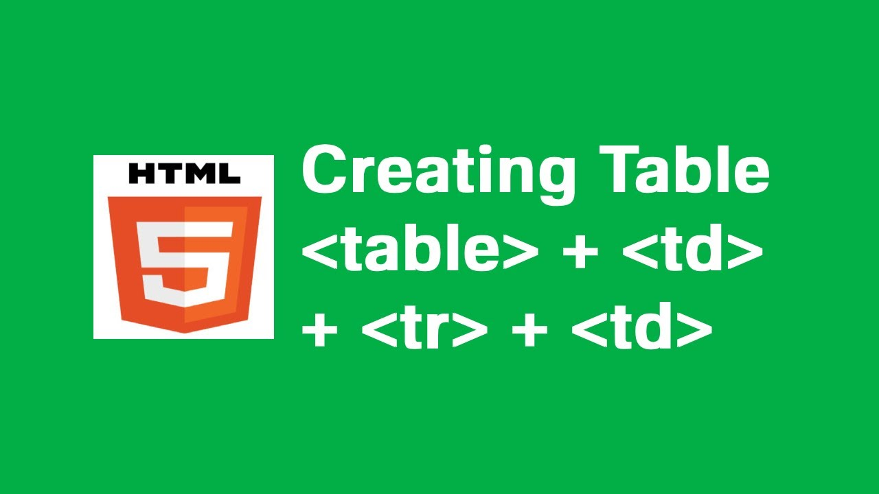 Download Creating basic tables in HTML