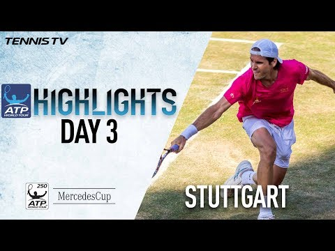 Haas Defeats Federer Match Point Stuttgart 2017