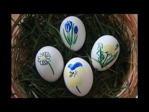 ostereier bemalen fr hlingsblumen malen zu ostern dekorieren eier gestalten paint easter. Black Bedroom Furniture Sets. Home Design Ideas