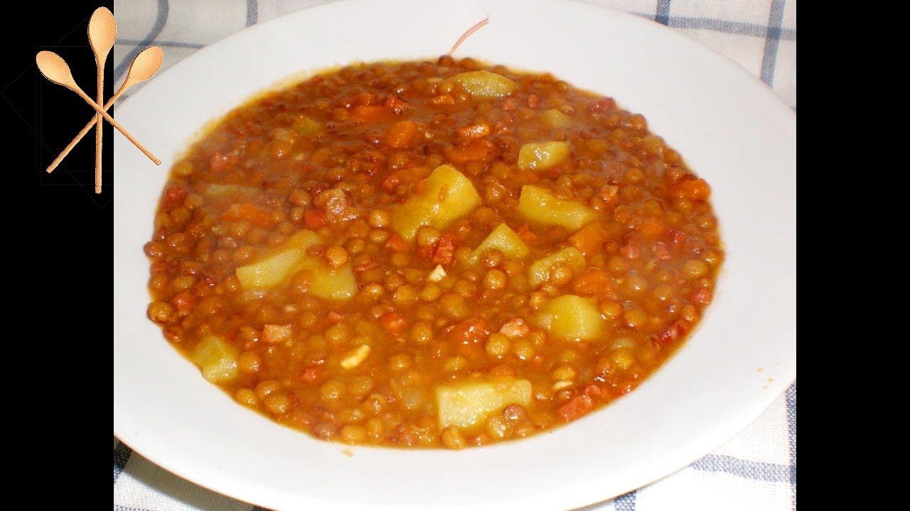 Lentejas con chorizo y patatas la receta f cil de mi abuela youtube - Lentejas con costillas y patatas ...